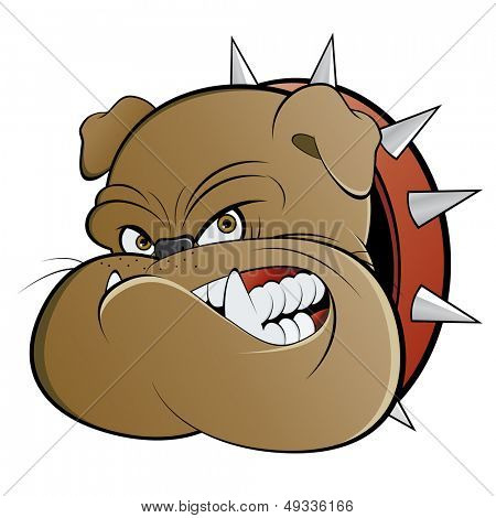 angry cartoon watchdog