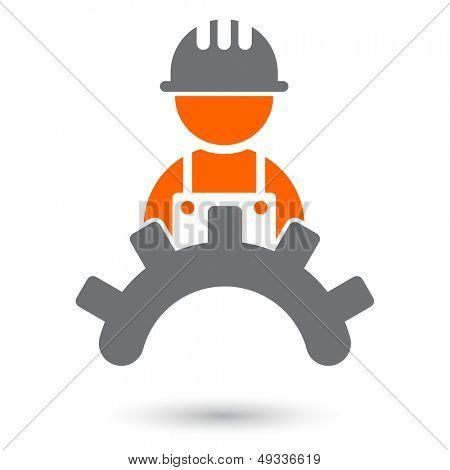 moderne Arbeiter Zeichen