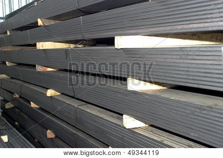 piles of steel sheet