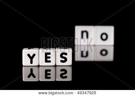 Yes No Concept