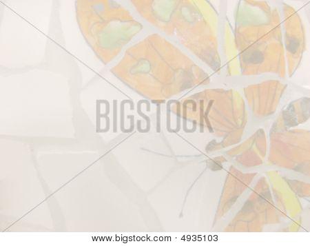 Orange Butterfly Stationary