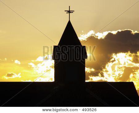 Church Steeple Silhouette