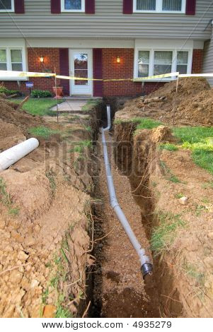 This is a home that had to have it's main sewer line dug up and repaired. Many older homes are having to have this done and many are not covered by home owners insurance. poster