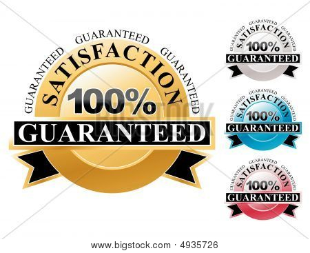 100% Satisfaction Guaranteed Icons Set