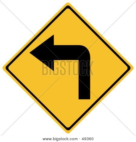 Left Turn Traffic Sign
