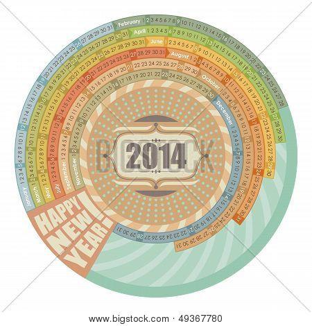 2014 Round Calendar