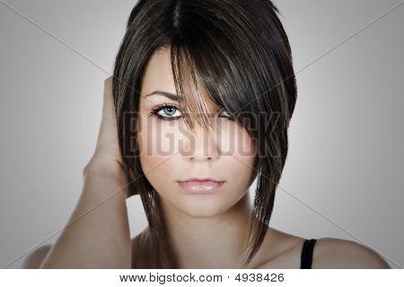 Close Up Shot Of A Beautiful Teen Model