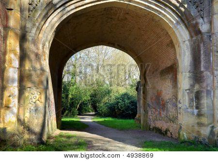Arched Graffiti Walkway