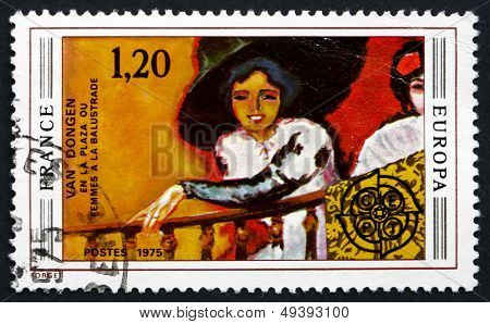 Postage Stamp France 1975 Woman On Balcony, By Kees Van Dongen