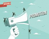 Web marketing promotion illustration. This vector file it's layered for easy editing. poster
