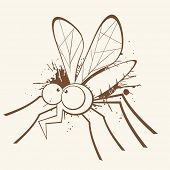 vintage mosquito cartoon poster