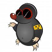 funny cartoon mole poster