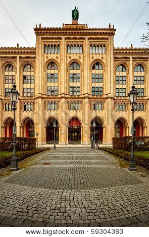 Facade Of Government Building Of Upper Bavaria At Maximilian Street, Built By King Max Ii In Munich,
