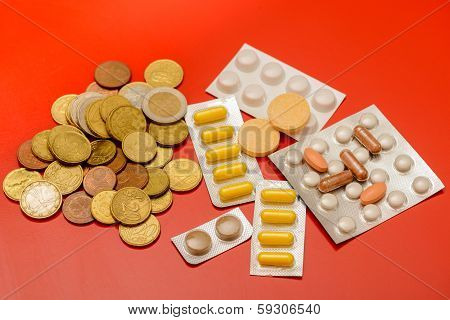 Petty Cash And Drugs Signifying Cheaper