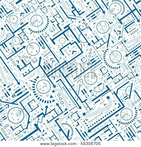 Architectural Seamless Pattern