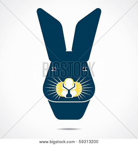 rabbit cartoon face vector
