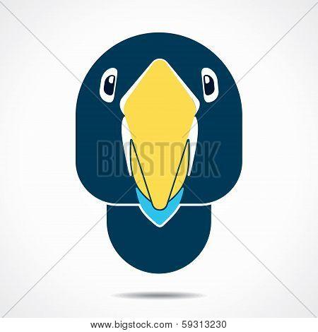 creative parrot face stock vector