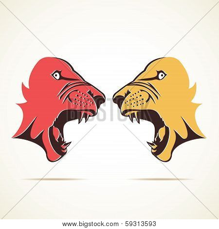 tiger in fighting mood face stock vector