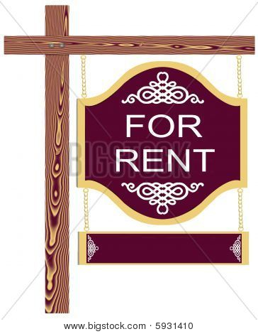 Fancy For Rent Sign