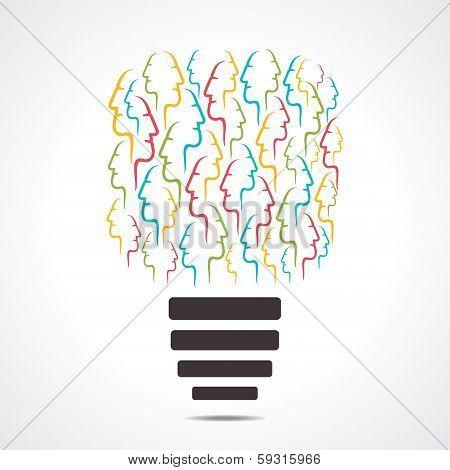 colorful face bulb vector stock vector