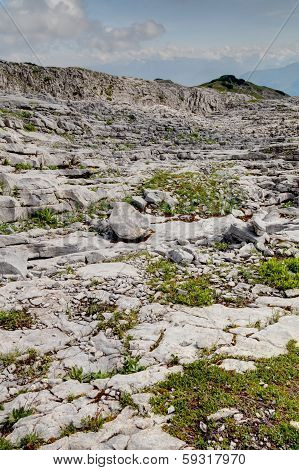 Plato Limestone In The High Mountains
