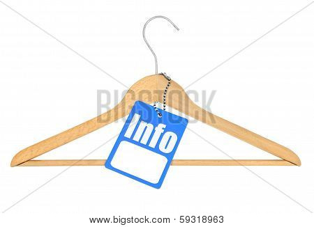 Coat Hanger With Info Tag