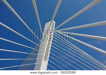 Millennium Bridge abstract detail in Podgorica, Montenegro poster