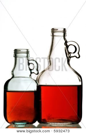 Two Bottles With White Background