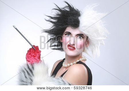 Fantasy Themed Evil Angry Woman With Crazy Hair