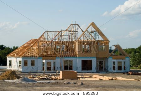 Large House Under Construction