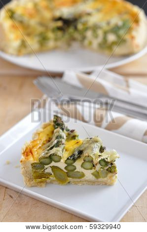 homemade asparagus quiche