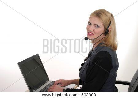 Atractivo cliente servicio operador 4