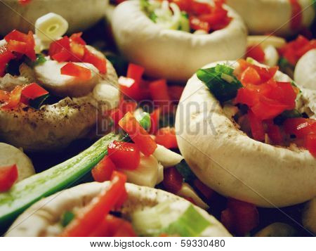 Mushrooms with vegetables