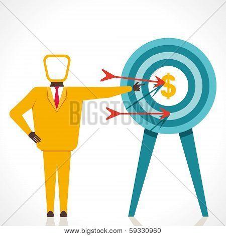 men focus on currency concept vector
