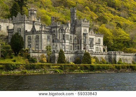 Closeup Picture Of Kylemore Abbey, Ireland