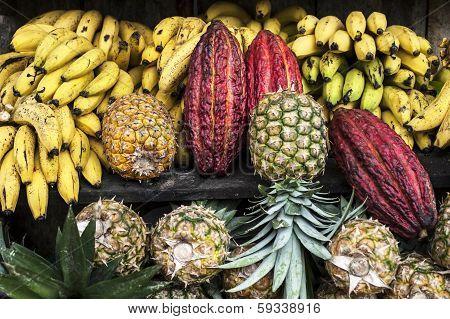 Fruit Street Market, Ecuador