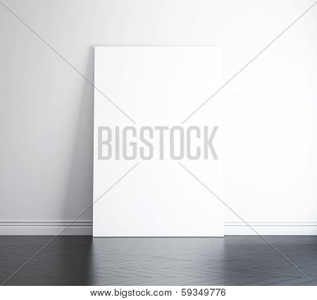 blank banner on the wall