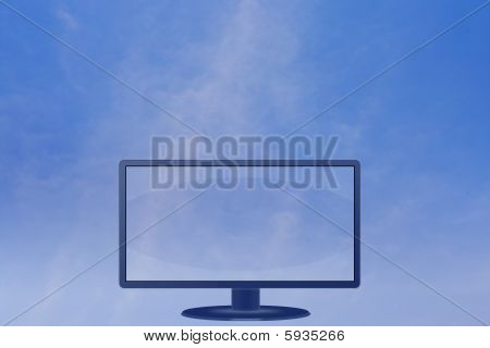 Blank Lcd Screen Monitor Sky