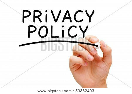 Privacy Policy Black Marker
