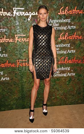 LOS ANGELES - OCT 17:  Karolina Kurkova arrives to the Wallis Annenberg Center for the Performing Arts Gala  on October 17, 2013 in Beverly Hills, CA