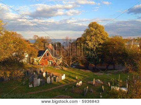 Picturesque old graveyard