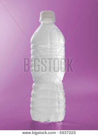 Frosted Water Bottle On Magenta