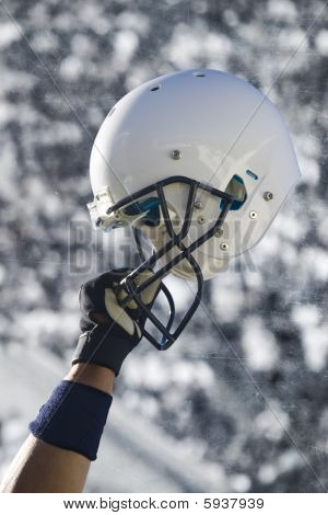 Fußball Helm grunge