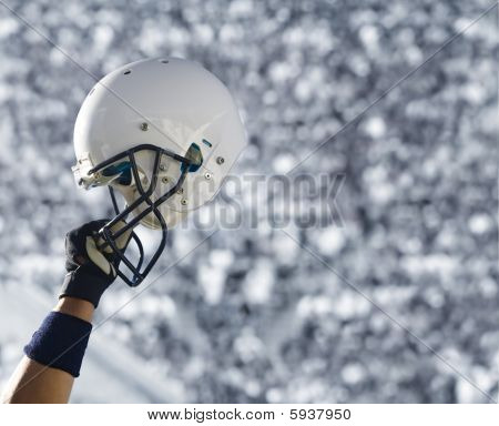 Football Helmet at Stadium (XXL)