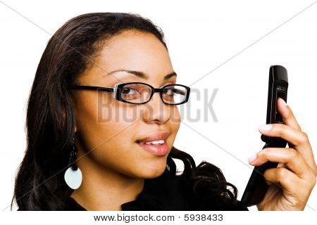 Portrait Of A Woman Text Messaging