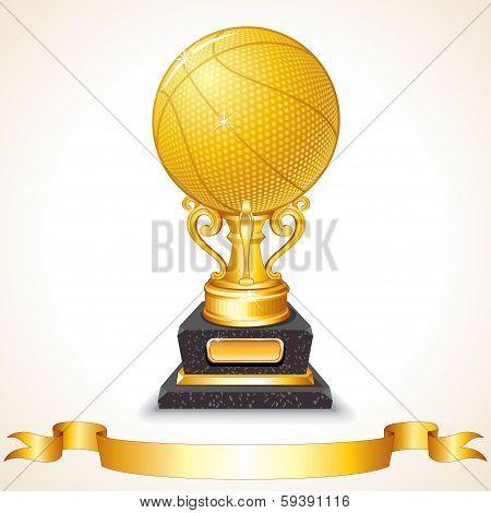 Golden Basketball Cup