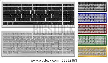 Keyboard with 100 keys