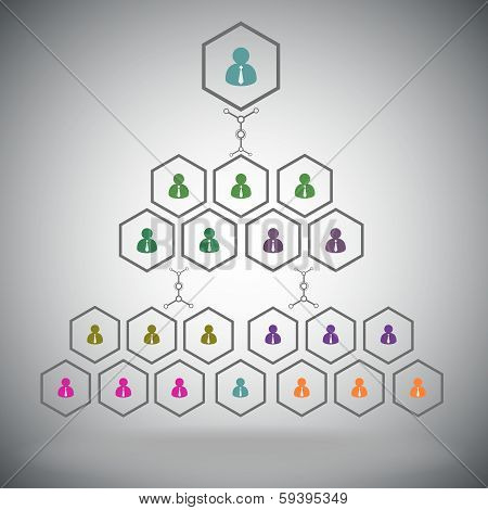 Management Pyramid Colored