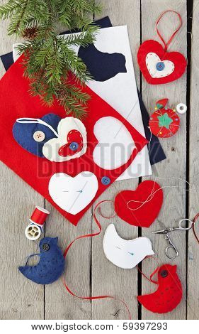 Homemade Felt Christmas Ornaments