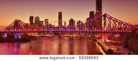The Story Bridge in Brisbane, QLD, Australia poster